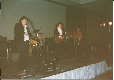 "Kenny ""Tuna"" Crouch, Tate Stevens and Dan Smith, New Year's Eve 1995.  Photo by Linda Smith"