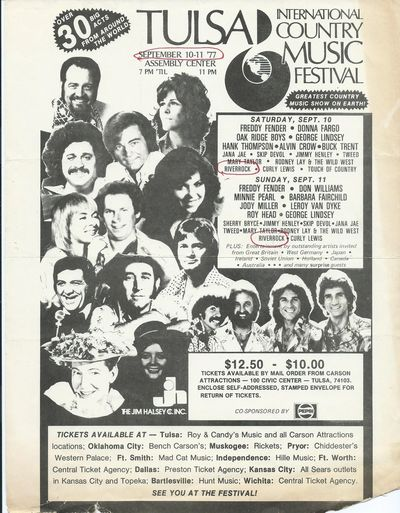 Newspaper add from September, 1977 for the Tulsa International Country Music Festival.