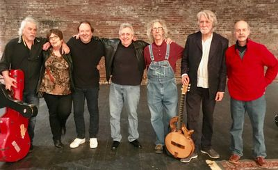John McEuen and the String Wizards with Rodney Dillard and Dan Smith.  Photo by Tom Hartnett
