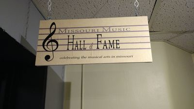 Missouri Music Hall of Fame sign outside the exhibit at the St. Joseph Museum.  Photo by Dan Smith