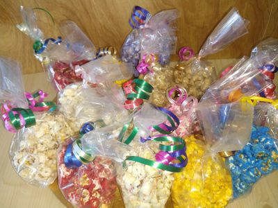 Gourmet popcorn as a welcome back  door opener for a class but can also be used as a thank you!