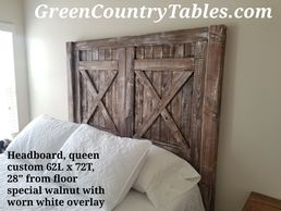 Custom built headboard