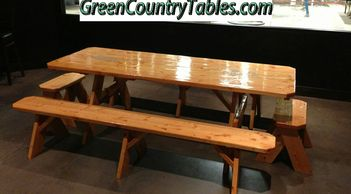 Handcrafted Picnic Tables.  This is not your everyday commercial store picnic table custom built