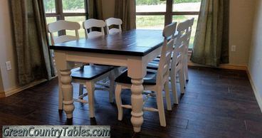 Custom Handcrafted Farm House Tables and Benches.  Many different designs to choose from.