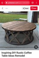 Round Coffee Table X leg and Round End Table X