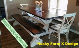 Farm table Farmhouse table kitchen table dining table oklahoma farmhouse decor bench chairs house