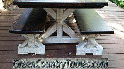 Husky Farm X Table.  Custom furniture build in Oklahoma and surrounding areas