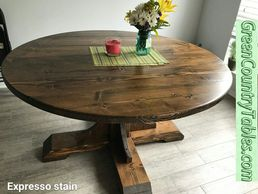 Custom Handcrafted Farm House Round or Square Tables.