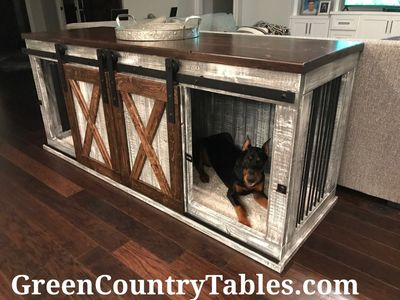 Custom handcrafted dog kennels and crates.  Even a cat kennel or other pet.