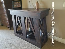 Entryway table entertainment center entry table