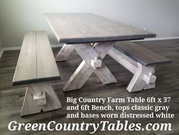 Big Country Farm Table and Bench