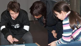 Michelle Brooks teaching children filmmaking using tablets