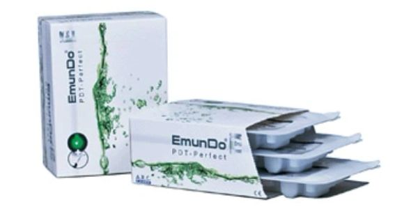 EmunDo product packaging and an open package showing three product trays in each box.