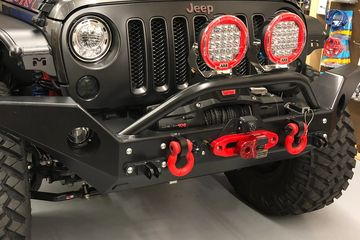 Rock Hard Patriot Series Front Bumper with Lowered Winch Mount