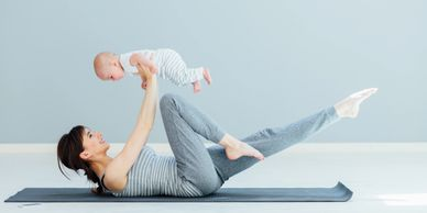 mom stay at home mom pre natal post natal inhome pilates nyc new york city baby pregnant exercise