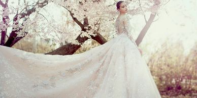 Ysa Makino, bridal gown, wedding gown