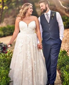 Plus size wedding dress essense of australia