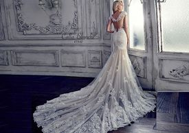 calla blanche, wedding gown, bridal gown, unique, sexy wedding