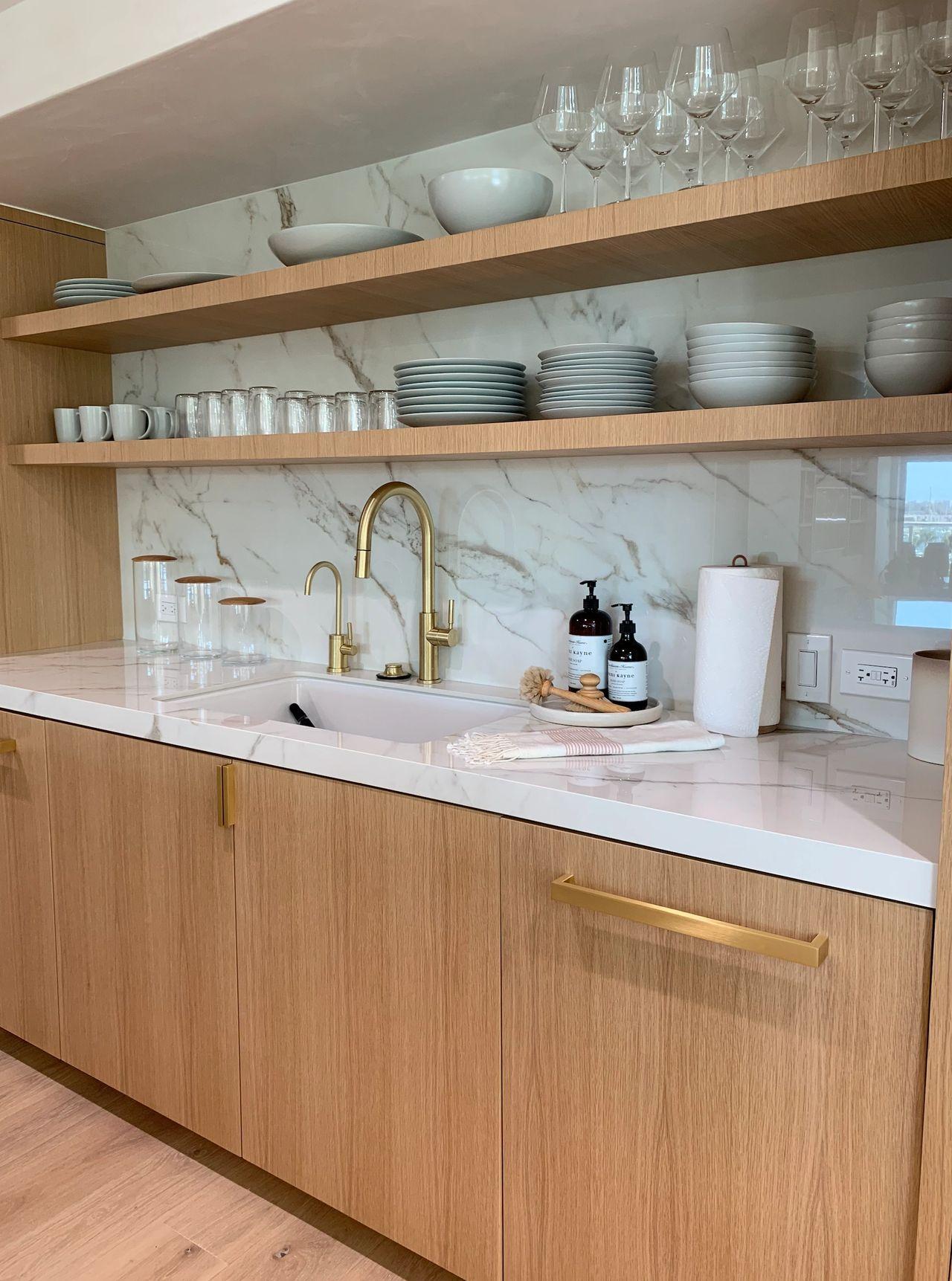 Italian Porcelain Slab Kitchen And Backsplash From Royal Stone