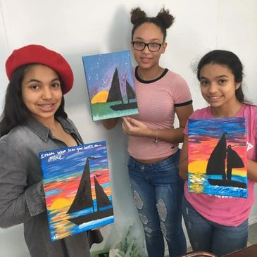 Fun painting party with Canvas Fiesta