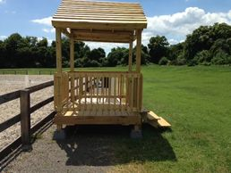 Pavillion for judge's stand-huge thanks to Eagle Scout Thomas Windus.