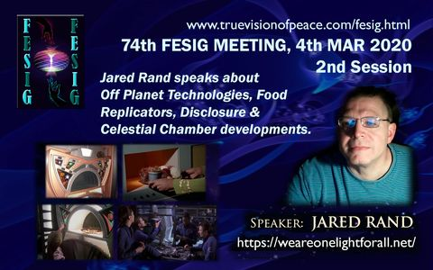 74th FESIG Meeting with speaker Jared Rand March 2020