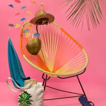 tropical Caribbean beach chair