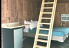 Lofted cabins sleep 4-5 ppl are are $100-$150 per night