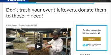 WLOS, Sierra Nevada, food rescue, food waste, Oktoberfest, Food Connection