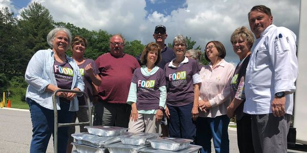 ABCCM, veterans, Food Connection, St James Episcopal of Black Mountain, VRQ, Ridgecrest, hunger