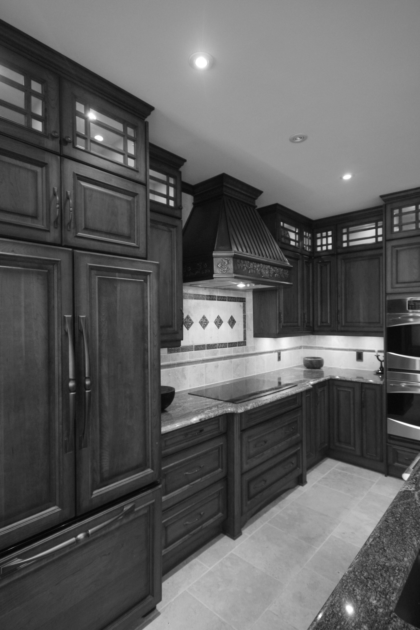 custom home, kitchen design, traditional kitchen, custom cabinets