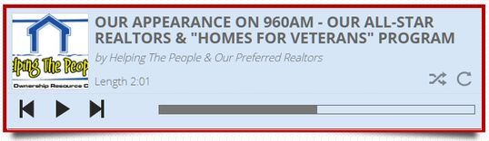 Hire Our Preferred Realtors and work with the Top 1% to 5% of Realtors in Arizona and you help Vets