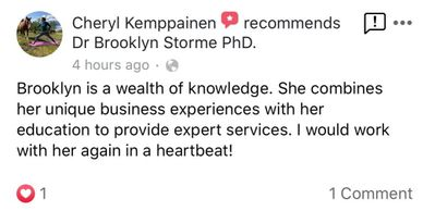 private practice coach testimonial review dr brooklyn storme