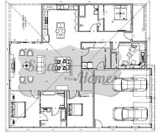 Home builder 2100 sq ft layout