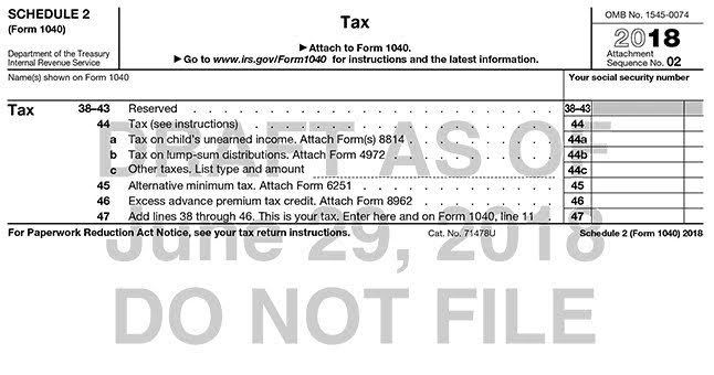 Form 1040 Has a New Look