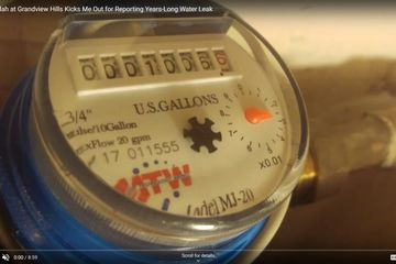 The Verandah at Grandview Hills Apartments in Austin TX Apt 2924 Water Meter Reading 1006.626. #scam