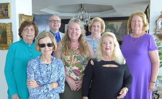 Current executive board:  front:  Marian Morgan & Lady Susan Willis-Reickert, middle:  Voncile Smith, Susan Oyer, Joy Shearer, back:  Peter Inch, Maureen McGowan-Singer