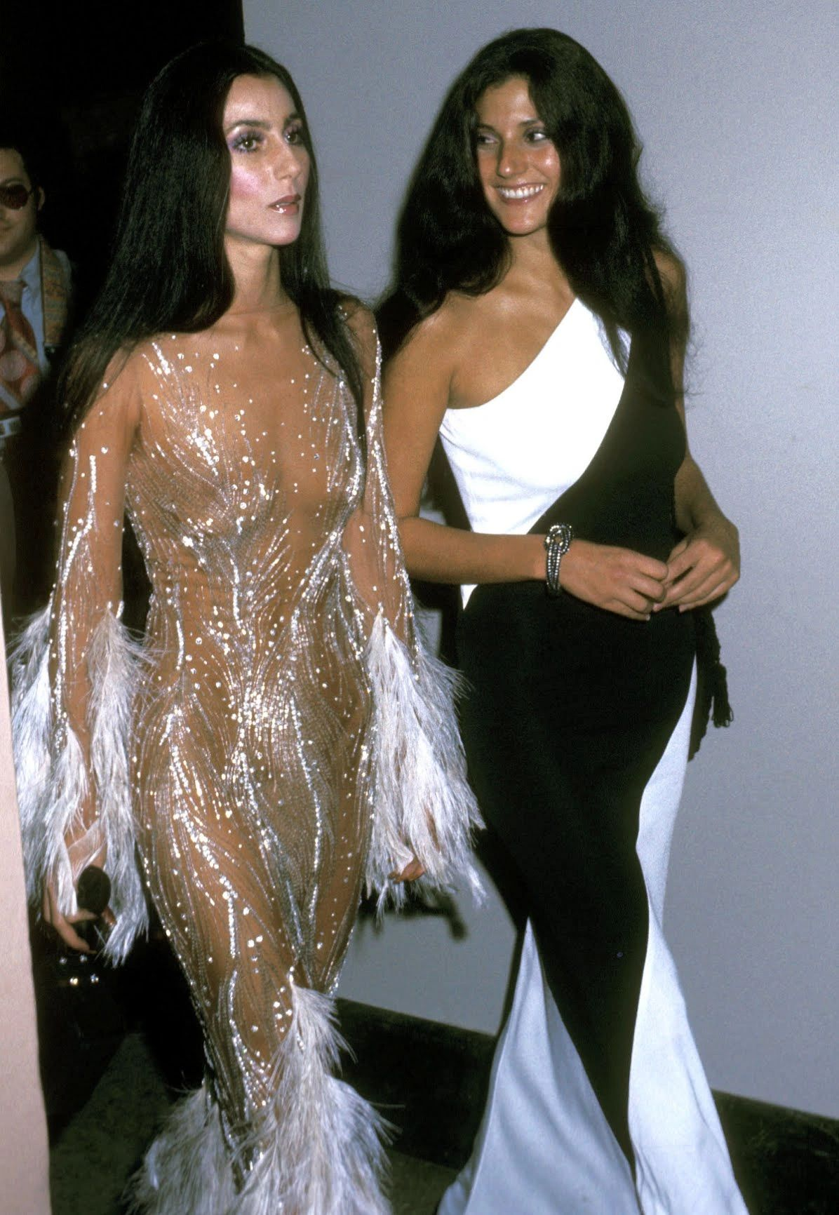 Cher and Paulette Betts, 1974. Theme: Romantic and Glamorous Hollywood Design. (Credit: Ron Galella/WireImage)