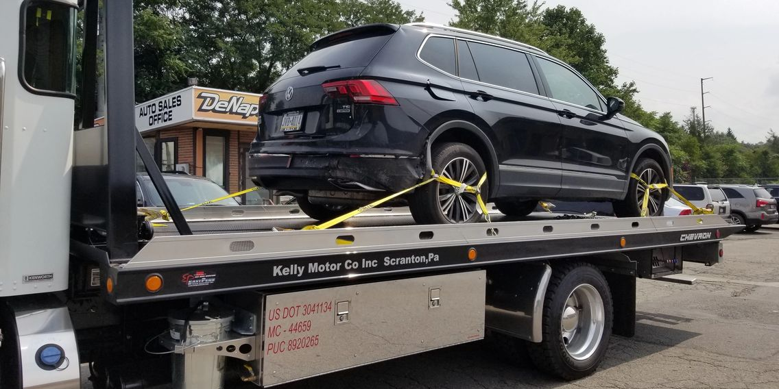 Our towing services being performed in Scranton, PA