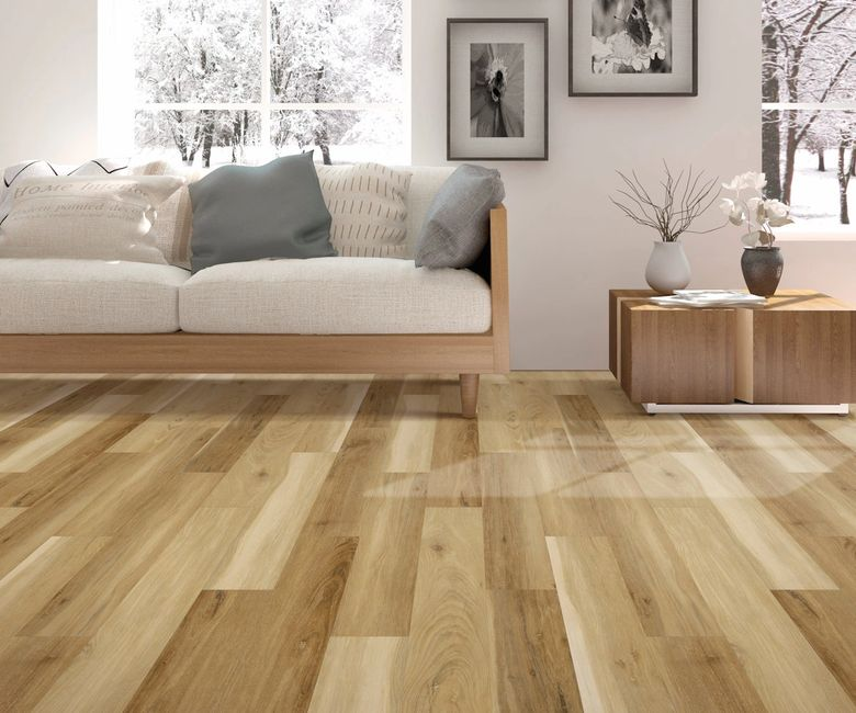 Two tone pine luxury vinyl waterproof plank flooring