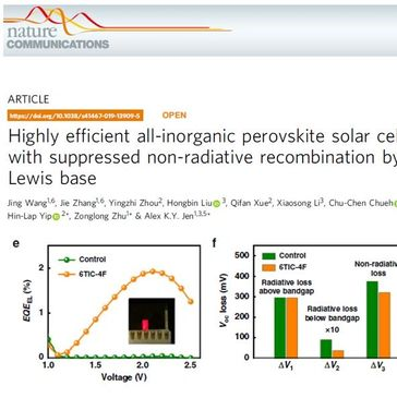 Using Enli Tech's ultra-sensitive EQE to prove the high Voc of the perovskite solar cell is due to n