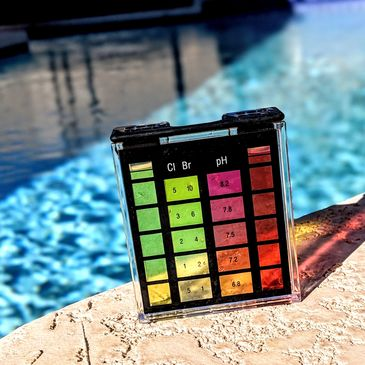 Pool chemicals including ph, alkalinity, TDS, chlorine, and salt