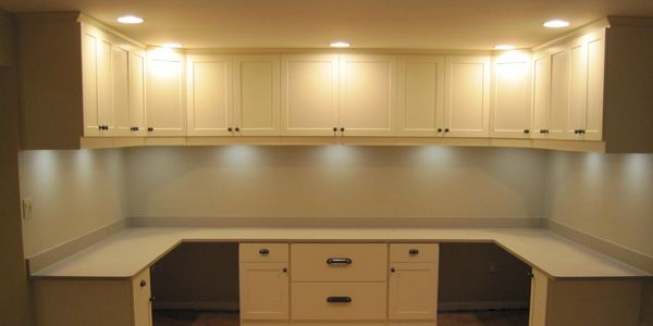 Home Office  Craft Room Cabinet Lighting