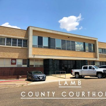 This is the view of the Lamb County Courthouse from our office just across the street.