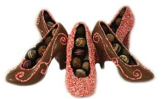 c63e1a4fd584 Our Signature Chocolate High Heel Shoe filled with Truffles (8 1/4