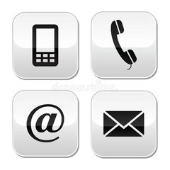 Options to contact Crossfire.  Phone, cell phone, website and email