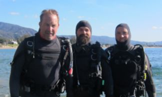Kevin Costner scuba dives our local beaches with one of our guides