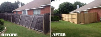 Before and After Fence Project near Lafayette Indiana