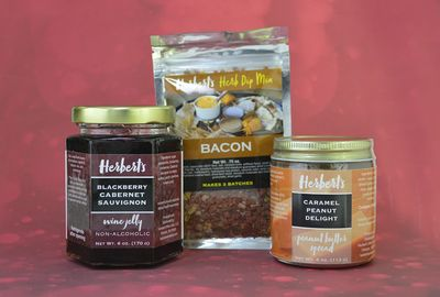 Herbert's creates gourmet jellies, peanut butter spreads, and herb dip mixes.