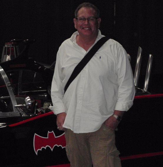 Dr. Allen S Miller with Batmobile at Starcars Event